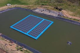 Floating solar system at Rift Valley Roses