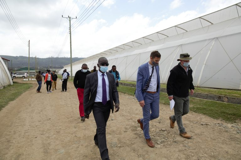 Inauguration event at Rift Valley Roses